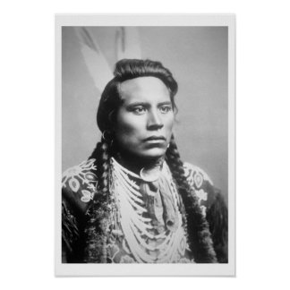 Curley, of the Crow tribe, one of Custer's scouts Poster