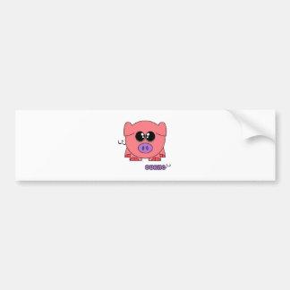 Curlie Pudgie Pet Bumper Sticker