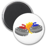 Curling 2 Inch Round Magnet