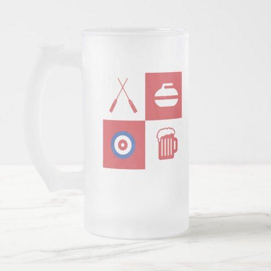 Curling beer mug