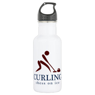 Curling: Chess on Ice 18oz Water Bottle
