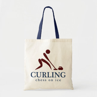 Curling: Chess on Ice Budget Tote Bag