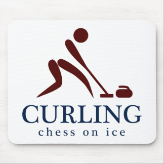 Curling: Chess on Ice Mouse Pad