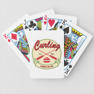 Curling: chess on ice bicycle playing cards