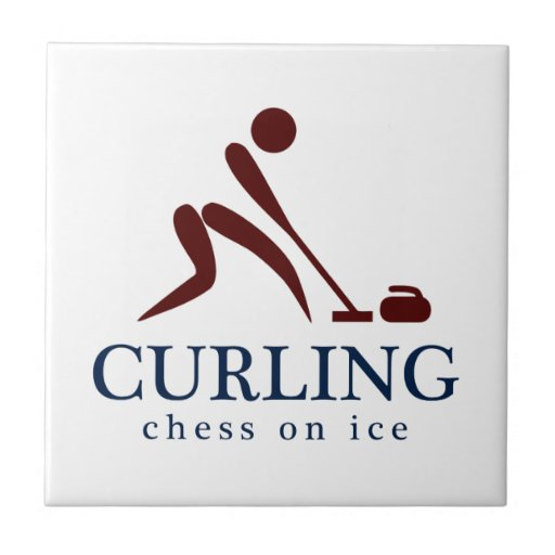 Curling: Chess on Ice Small Square Tile