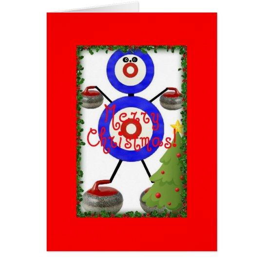 Curling Christmas Cartoon Card