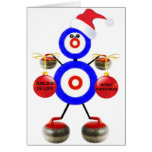 Curling Christmas Greeting Cards