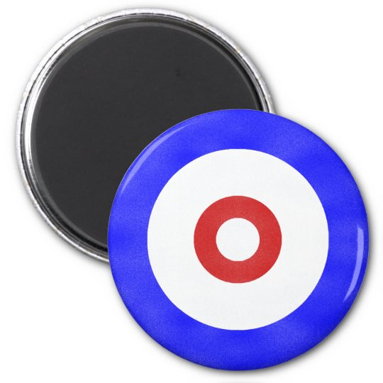Curling Circle Iced Magnet