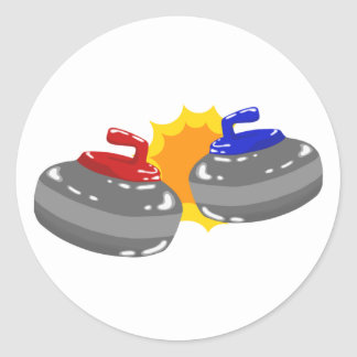 Curling Classic Round Sticker
