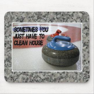 Curling - Clean House Mousepad
