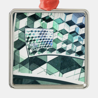 Curling Colorful Cubes Ornament