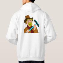 Curling Cowboy (back) Hoodie