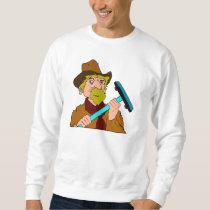 Curling Cowboy (front) Sweatshirt