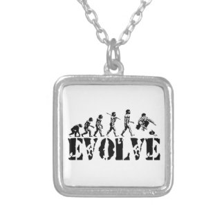 Curling Curler Winter Sport Evolution Art Custom Necklace