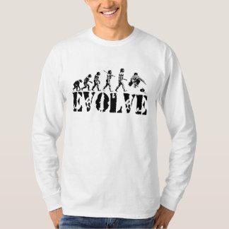 Curling Curler Winter Sport Evolution Art T-Shirt