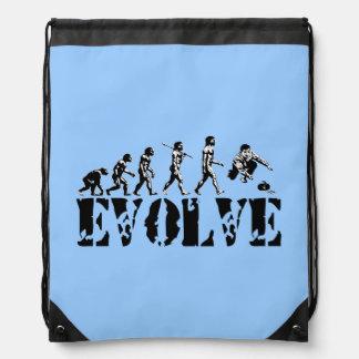 Curling Curler Winter Sports Drawstring Bag