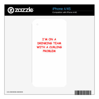 CURLING DECALS FOR THE iPhone 4S