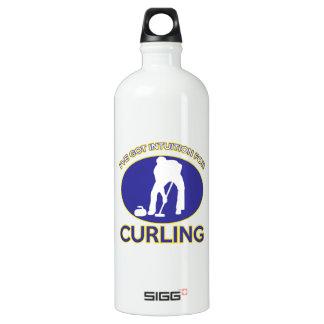 curling design aluminum water bottle