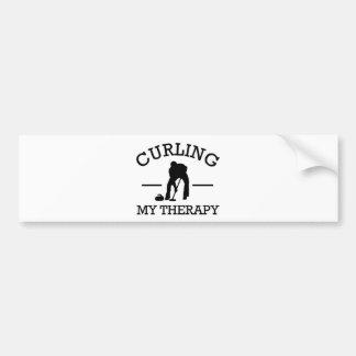 curling design bumper sticker