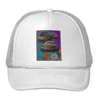 curling design trucker hat
