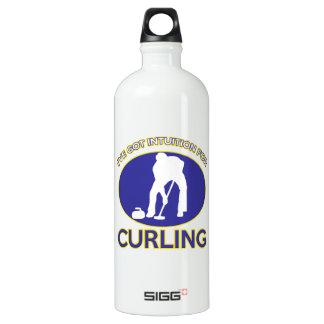 curling Designs Aluminum Water Bottle