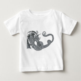 Curling Dragon Baby T-Shirt