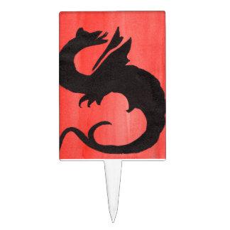 Curling Dragon Cake Pick