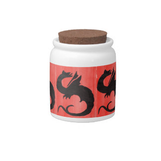 Curling Dragon Candy Jars
