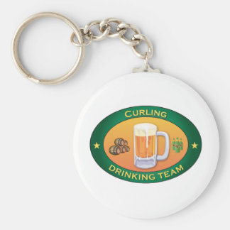 Curling Drinking Team Key Chains
