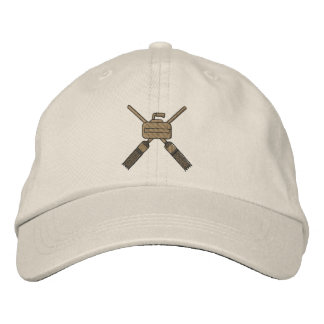 Curling Embroidered Baseball Cap