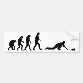 curling evolution bumper sticker