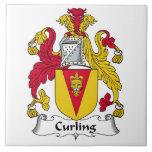Curling Family Crest Ceramic Tile