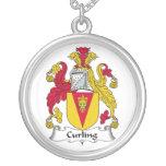 Curling Family Crest Pendants