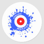 Curling Hooligan Classic Round Sticker