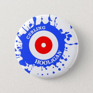 Curling Hooligan Pinback Button