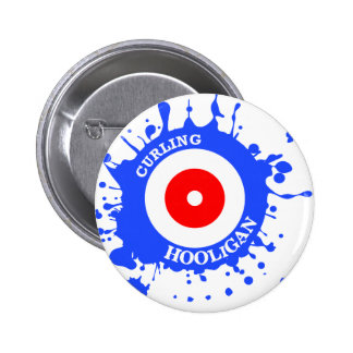Curling Hooligan Pinback Button