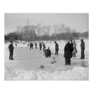 Curling in Central Park, 1906 Poster