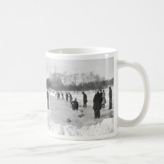 Curling in Central Park NYC Mug