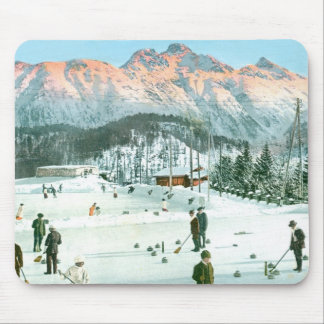 Curling in Switzerland Mouse Pad
