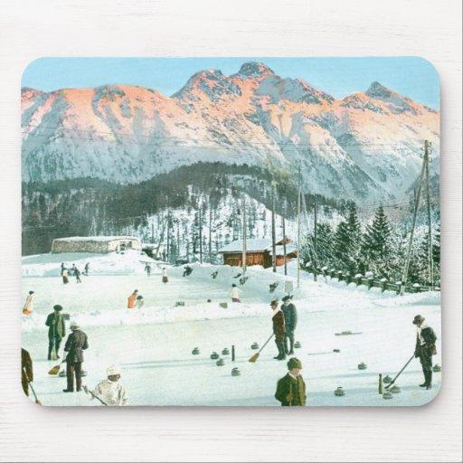 Curling in Switzerland Mousepad