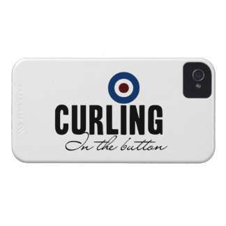 Curling: In The Button iPhone 4 Cases