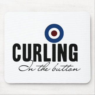 Curling: In The Button Mouse Pad