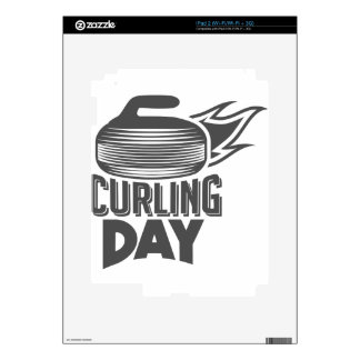 Curling Is Cool Day - Appreciation Day iPad 2 Skins