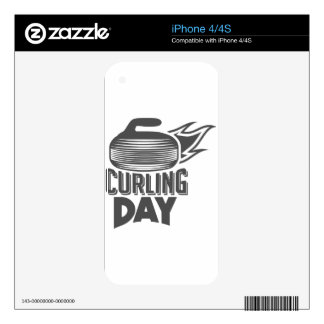 Curling Is Cool Day - Appreciation Day iPhone 4 Decal