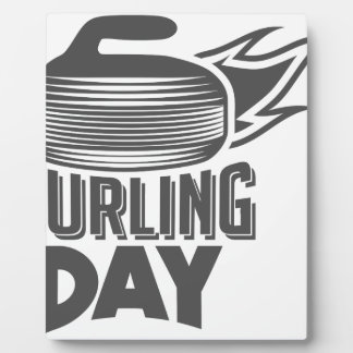 Curling Is Cool Day - Appreciation Day Plaque