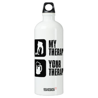 curling is my therapy water bottle