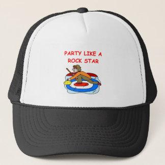 curling joke trucker hat