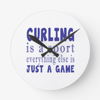CURLING JUST A GAME ROUND CLOCK