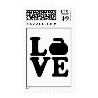Curling love postage