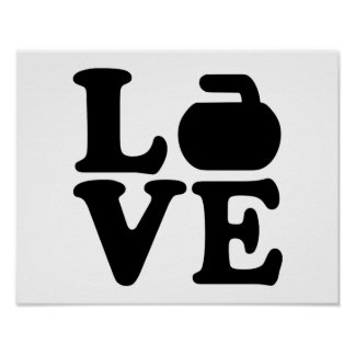 Curling love poster